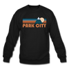 Park City, Utah Sweatshirt - Retro Mountain Park City Crewneck Sweatshirt - black