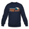 Park City, Utah Sweatshirt - Retro Mountain Park City Crewneck Sweatshirt - navy
