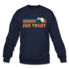 Sun Valley, Idaho Sweatshirt - Retro Mountain Sun Valley Crewneck Sweatshirt - navy