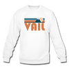 Vail, Colorado Sweatshirt - Retro Mountain Vail Crewneck Sweatshirt - white