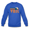 Vail, Colorado Sweatshirt - Retro Mountain Vail Crewneck Sweatshirt - royal blue