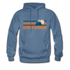 California Hoodie - Retro Mountain California Crewneck Hooded Sweatshirt - denim blue