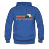 Fort Collins, Colorado Hoodie - Retro Mountain Fort Collins Crewneck Hooded Sweatshirt - royal blue