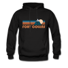 Fort Collins, Colorado Hoodie - Retro Mountain Fort Collins Crewneck Hooded Sweatshirt - black