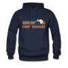 Fort Collins, Colorado Hoodie - Retro Mountain Fort Collins Crewneck Hooded Sweatshirt - navy