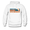 Snowmass, Colorado Hoodie - Retro Mountain Snowmass Crewneck Hooded Sweatshirt - white