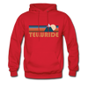 Telluride, Colorado Hoodie - Retro Mountain Telluride Crewneck Hooded Sweatshirt - red