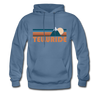 Telluride, Colorado Hoodie - Retro Mountain Telluride Crewneck Hooded Sweatshirt - denim blue