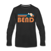 Bend, Oregon Long Sleeve T-Shirt - Retro Mountain Unisex Bend Long Sleeve Shirt - black