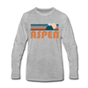 Aspen, Colorado Long Sleeve T-Shirt - Retro Mountain Unisex Aspen Long Sleeve Shirt - heather gray