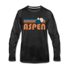 Aspen, Colorado Long Sleeve T-Shirt - Retro Mountain Unisex Aspen Long Sleeve Shirt - charcoal gray