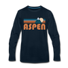 Aspen, Colorado Long Sleeve T-Shirt - Retro Mountain Unisex Aspen Long Sleeve Shirt - deep navy