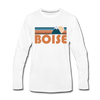 Boise, Idaho Long Sleeve T-Shirt - Retro Mountain Unisex Boise Long Sleeve Shirt - white