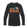 Boise, Idaho Long Sleeve T-Shirt - Retro Mountain Unisex Boise Long Sleeve Shirt - black