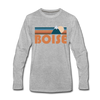 Boise, Idaho Long Sleeve T-Shirt - Retro Mountain Unisex Boise Long Sleeve Shirt - heather gray