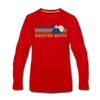 Crested Butte, Colorado Long Sleeve T-Shirt - Retro Mountain Unisex Crested Butte Long Sleeve Shirt - red