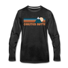 Crested Butte, Colorado Long Sleeve T-Shirt - Retro Mountain Unisex Crested Butte Long Sleeve Shirt - charcoal gray