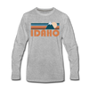 Idaho Long Sleeve T-Shirt - Retro Mountain Unisex Idaho Long Sleeve Shirt - heather gray