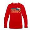 Idaho Long Sleeve T-Shirt - Retro Mountain Unisex Idaho Long Sleeve Shirt - red