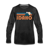 Idaho Long Sleeve T-Shirt - Retro Mountain Unisex Idaho Long Sleeve Shirt - charcoal gray