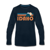 Idaho Long Sleeve T-Shirt - Retro Mountain Unisex Idaho Long Sleeve Shirt - deep navy
