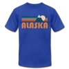 Alaska T-Shirt - Retro Mountain Unisex Alaska T Shirt - royal blue