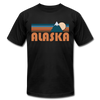 Alaska T-Shirt - Retro Mountain Unisex Alaska T Shirt - black