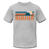 Alaska T-Shirt - Retro Mountain Unisex Alaska T Shirt - heather gray