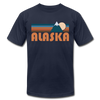 Alaska T-Shirt - Retro Mountain Unisex Alaska T Shirt - navy