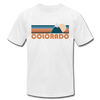 Colorado T-Shirt - Retro Mountain Unisex Colorado T Shirt - white