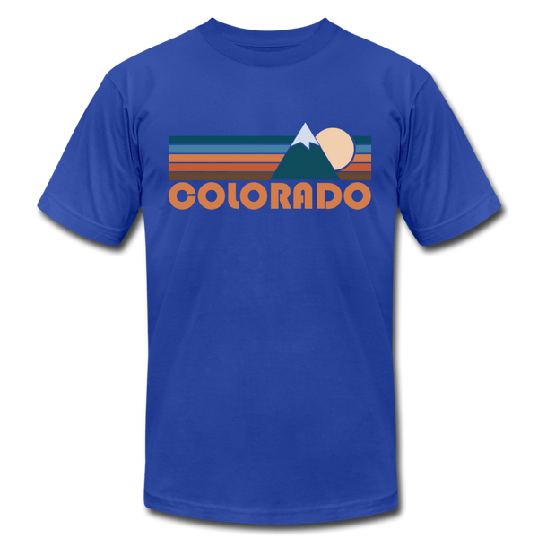 Colorado T-Shirt - Retro Mountain Unisex Colorado T Shirt - royal blue