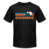 Colorado T-Shirt - Retro Mountain Unisex Colorado T Shirt - black