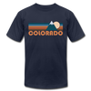 Colorado T-Shirt - Retro Mountain Unisex Colorado T Shirt - navy