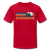 Colorado T-Shirt - Retro Mountain Unisex Colorado T Shirt - red