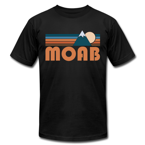 Moab, Utah T-Shirt - Retro Mountain Unisex Moab T Shirt - black