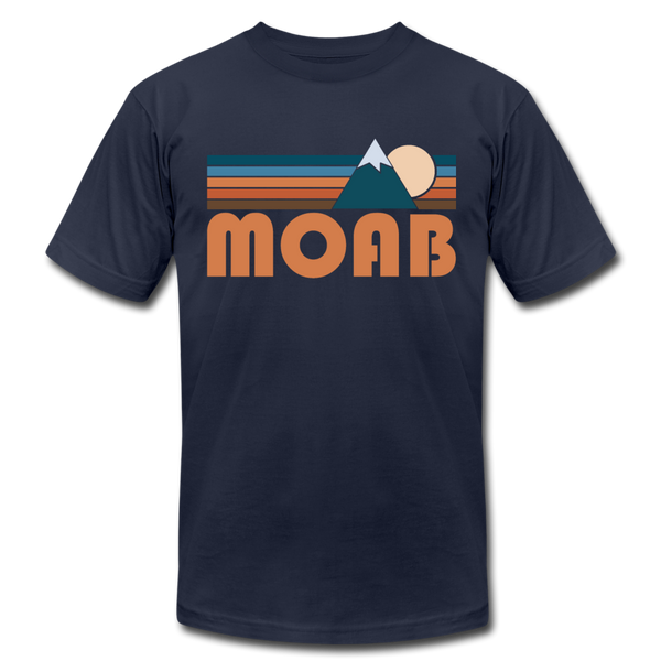 Moab, Utah T-Shirt - Retro Mountain Unisex Moab T Shirt - navy