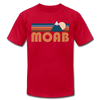 Moab, Utah T-Shirt - Retro Mountain Unisex Moab T Shirt - red