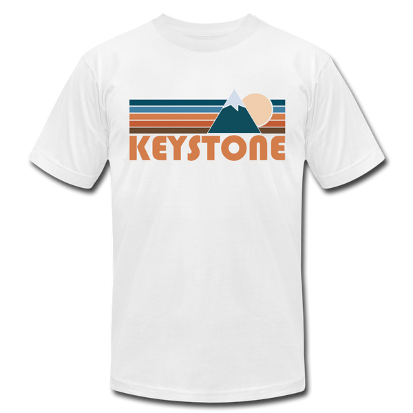 Keystone, Colorado T-Shirt - Retro Mountain Unisex Keystone T Shirt - white