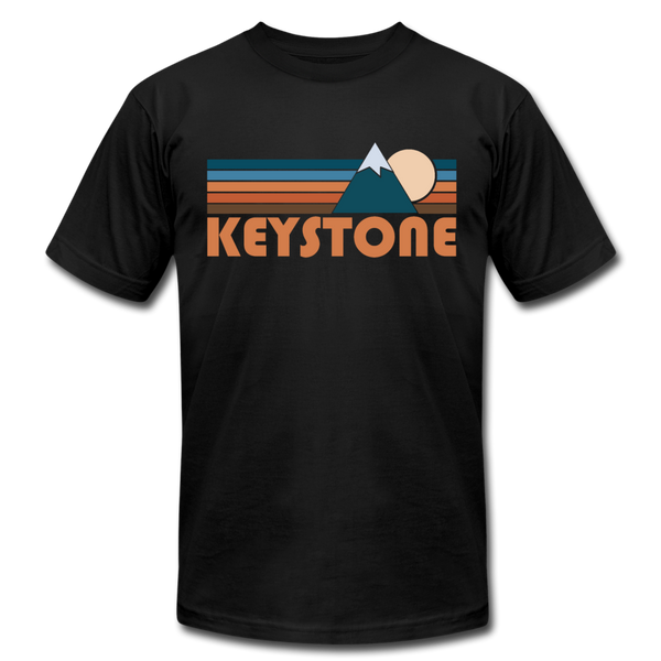 Keystone, Colorado T-Shirt - Retro Mountain Unisex Keystone T Shirt - black