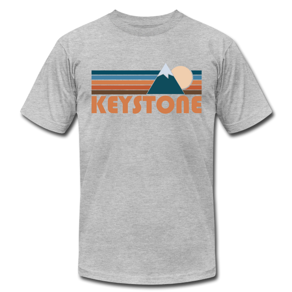 Keystone, Colorado T-Shirt - Retro Mountain Unisex Keystone T Shirt - heather gray