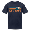 Keystone, Colorado T-Shirt - Retro Mountain Unisex Keystone T Shirt - navy