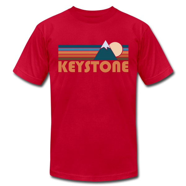 Keystone, Colorado T-Shirt - Retro Mountain Unisex Keystone T Shirt - red