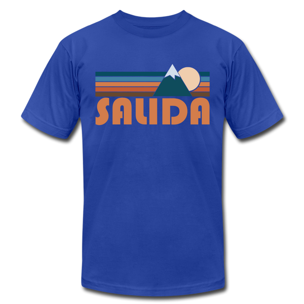 Salida, Colorado T-Shirt - Retro Mountain Unisex Salida T Shirt - royal blue