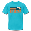 Salida, Colorado T-Shirt - Retro Mountain Unisex Salida T Shirt - turquoise