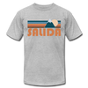 Salida, Colorado T-Shirt - Retro Mountain Unisex Salida T Shirt - heather gray