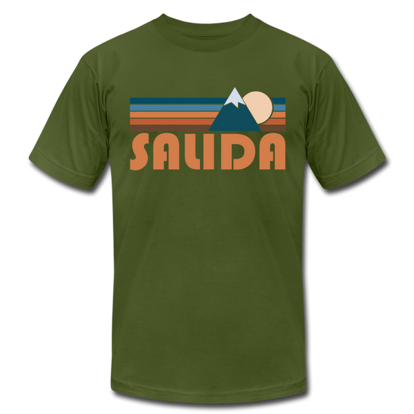 Salida, Colorado T-Shirt - Retro Mountain Unisex Salida T Shirt - olive