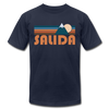 Salida, Colorado T-Shirt - Retro Mountain Unisex Salida T Shirt - navy