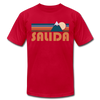 Salida, Colorado T-Shirt - Retro Mountain Unisex Salida T Shirt - red