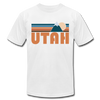 Utah T-Shirt - Retro Mountain Unisex Utah T Shirt - white