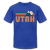Utah T-Shirt - Retro Mountain Unisex Utah T Shirt - royal blue